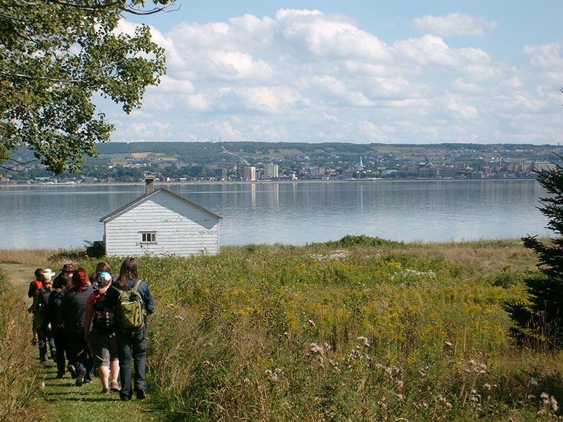 Excursion à l'île Saint-Barnabé, à Rimouski. Photo : Léna Deseille.